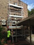 Aluminium scaffold tower to repair and install air conditioning units – Parramatta