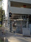Aluminium scaffolding – providing a safe work platform for construction of new carpark - Liverpool