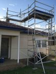 Aluminium scaffold tower to provide safe roof access for chimney repairs – Blacktown