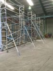 Aluminium scaffold towers used for edge protection at Commercial Industrial site – St Marys