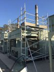 Industrial scaffolding used as edge protection for generator - Eastern Creek