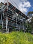 Aluminium system scaffolding installed for roof replacement - Wentworth falls