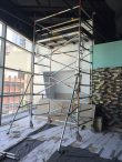 Hire mobile scaffold tower. Used for shop fit out - Chatswood