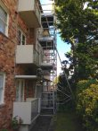 7m high scaffold tower for repair windows and guttering – Blue Mountains