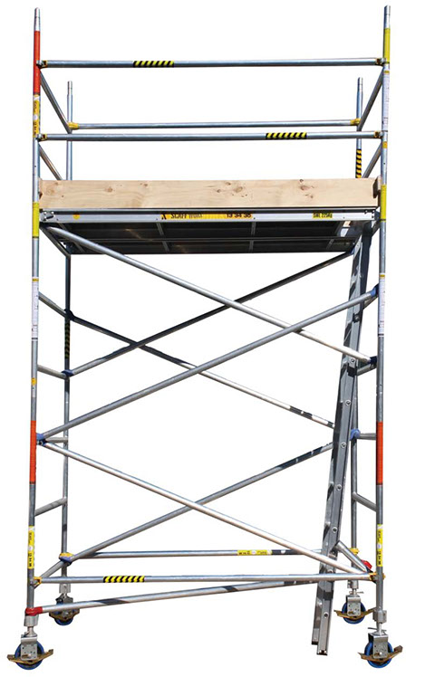 wide aluminium mobile scaffold tower
